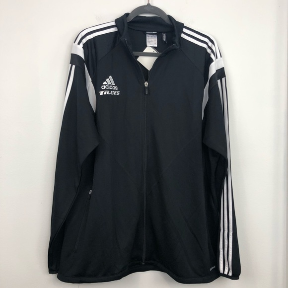 6437ae74c26e Adidas Tillys Men s Black Track Jacket NWT
